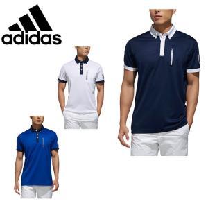 クレリックカラーと袖の配色がさわやかな印象のB.D.シャツ。左胸のファスナー付きポケットディテールが...