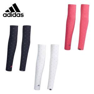 アディダス ゴルフ アームカバー レディース ADICROSS アディクロス UVモノグラムプリントアームカバー XA182 adidas|himaraya