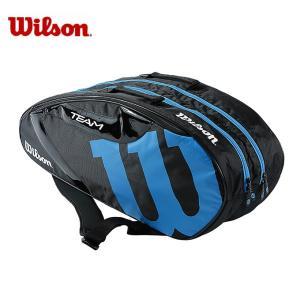ウィルソン テニス バドミントン ラケットバッグ 6本用 TEAM JP 6 PACK BKBL チーム パック WR8000603 Wilson メンズ レディース|himaraya