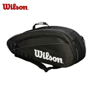 ウィルソン テニス ラケットバッグ 6本用 FED TEAM 6 PACK フェデラーチーム 6パック WRZ834806 Wilson メンズ レディース|himaraya