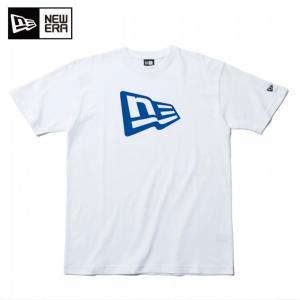 ニューエラ NEW ERA Tシャツ 半袖 メンズ レディース コットン Tシャツ フラッグロゴ ホワイト × ブルー 11900238|himaraya