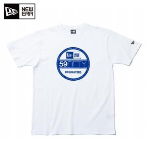 ニューエラ NEW ERA Tシャツ 半袖 メンズ レディース コットン Tシャツ バイザーステッカー ホワイト × ブルー 11901374|himaraya
