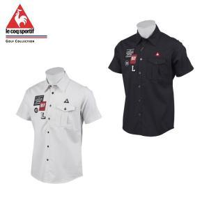 ワッペン使いが特徴の胸ポケット付き半袖シャツ。 様々なサイズとデザインのワッペンは音楽スタジオに貼ら...