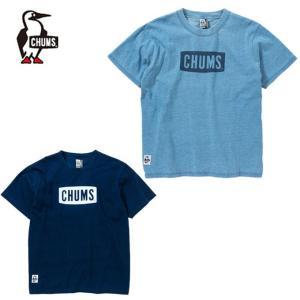 チャムス CHUMS Tシャツ 半袖 メンズ レディース チャムスロゴTシャツインディゴ CHUMS Logo T-Shirt Indigo CH01-1483|himaraya