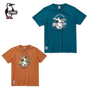 チャムス CHUMS Tシャツ 半袖 メンズ レディース ブービードラムスTシャツ Booby Drums T-Shirt CH01-1513 himaraya