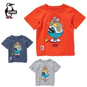 チャムス CHUMS 半袖シャツ ジュニア キッズシェイブドアイスTシャツ Kid's Shaved Ice T-Shirt CH21-1090|himaraya