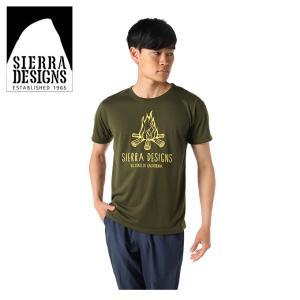 シェラデザインズ SIERRA DESIGNS  Tシャツ 半袖 メンズ キャンプファイヤー 防蚊 20913236 KH|himaraya