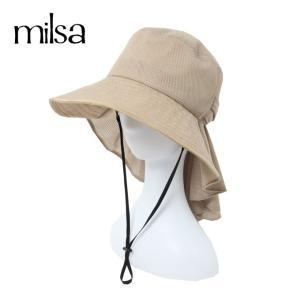 ミルサ milsa ゴルフ ハット レディース 風とばUVギャザーハット 196-372208|himaraya