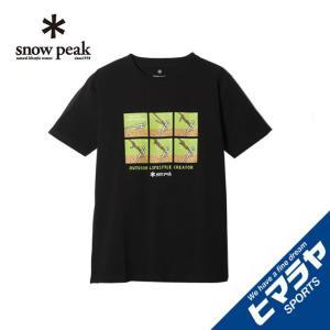 スノーピーク Tシャツ 半袖 メンズ トートラインヒッチ Tシャツ ブラック TS-19SU102 BLACK snow peak|himaraya