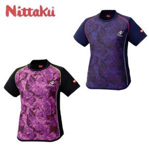 ニッタク Nittaku 卓球ウェア レディース FLAGE LADIES SHIRT フラージュレディースシャツ NW-2188|himaraya