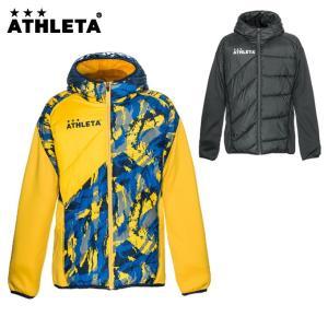 アスレタ ATHLETA サッカーウェア ウインドブレーカージャケット メンズ 中綿ハイブリッドウォームJKT 04126|himaraya