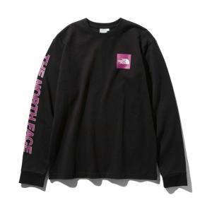 ノースフェイス Tシャツ 長袖 レディース L/S Square Logo Sleeve Tee ロングスリーブスクエアロゴスリーブティー NTW81931 K THE NORTH FACE|himaraya