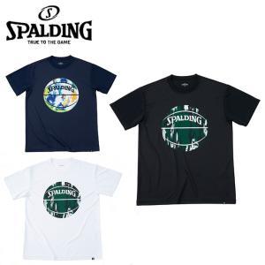 スポルディング バスケットボールウェア 半袖シャツ メンズ レディース Tシャツ マーブルボール S...