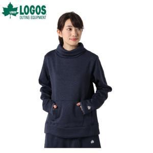 ロゴス LOGOS スウェットトレーナー レディース ラップウォームハイネック 9486-4661 67 モクNavy|himaraya