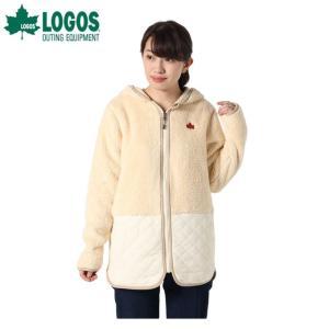 ロゴス LOGOS スウェットジャケット レディース モコモコソフトロング HD 9486-4353 28 Ivory|himaraya
