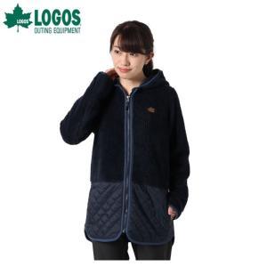 ロゴス LOGOS スウェットジャケット レディース モコモコソフトロング HD 9486-4353 67 Navy|himaraya