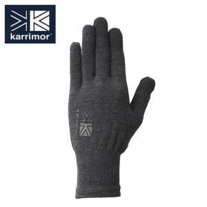 カリマー karrimor  手袋 メンズ レディース ウールロゴ グローブ 5G04UAI1 Bl...