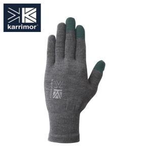 カリマー karrimor  手袋 メンズ レディース ウールロゴ グローブ 5G04UAI1 H....