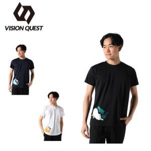 バレーボールウェア 半袖シャツ メンズ ねこTシャツ VQ570513J01 ビジョンクエスト VISION QUEST ヒマラヤ PayPayモール店