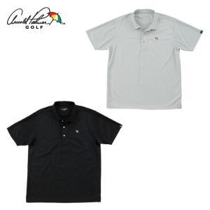 アーノルドパーマー arnold palmer ゴルフウェア ポロシャツ 半袖 メンズ エンボス柄半...
