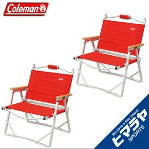 コールマン Coleman アウトドア コンパクトフォールディングチェア レッド 2個セット 170-7670