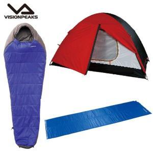 ビジョンピークス VISIONPEAKS テント 小型テント キロル+インフレータマットシングル2.5cm+マミーアセント/10 【お買い得3点セット】 himaraya