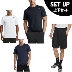 ナイキ 半袖Tシャツ ハーフパンツ セット メンズ DRI-FIT レジェンド S/S Tシャツ + DRI-FIT ショート 4.0 718834 + 890812-010 NIKE|himaraya