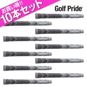 ゴルフプライド Golf Pride ゴルフ メンズ マルチコンパウンドMCC プラス4 ミッドサイズ グレー クラブ用グリップ お買い得10点セット MCCM|himaraya