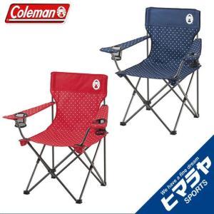 コールマン アウトドアチェア2点セット リゾートチェア ネイビードット 2000026736 +リゾートチェア レッドドット 2000026734 coleman|himaraya