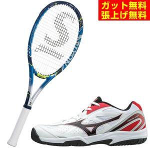 スリクソン SRIXON 硬式テニスラケットセット ラケット + テニスシューズ  メンズ レディース レヴォ CX 4.0  + ブレイクショット OC オムニクレーシューズ|himaraya