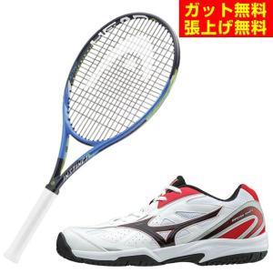 ヘッド HEAD 硬式テニスラケットセット ラケット + テニスシューズ インスティンクト  + オムニクレーシューズ|himaraya