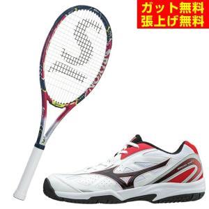 スリクソン SRIXON 硬式テニスラケットセット ラケット + テニスシューズ メンズ レディース REVO CX2.0LS  + オムニクレーシューズ|himaraya