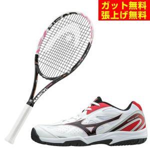 ヘッド HEAD 硬式テニスラケットセット ラケット + テニスシューズ メンズ レディース ラジカル サクラ + オムニクレーシューズ|himaraya