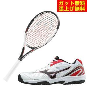 ヘッド HEAD 硬硬式テニスラケットセット ラケット + テニスシューズ  メンズ レディース スピードライト 2018 +オムニクレーシューズ|himaraya
