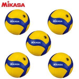 ミカサ MIKASA バレーボール 国際公認球 検定球5号×5個セット V300W|himaraya