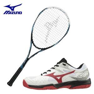 ミズノ ソフトテニスラケットセット 張り上げ済み メンズ レディース TECHNIX 200 + ブレイクショット2 OC オムニクレー MIZUNO|himaraya