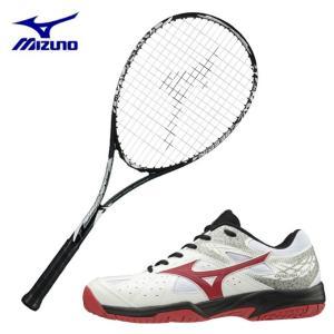 ミズノ ソフトテニスラケットセット ラケット + テニスシューズ 張り上げ済み メンズ レディース TECHNIX 200 + ブレイクショット2 OC オムニクレー MIZUNO|himaraya