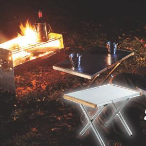 ガンガン使える頼もしいサイドテーブル。 熱・キズ・汚れに強く、アウトドアで気になりがちなハードな使い...