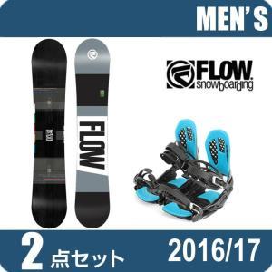 スノーボード 2点セット メンズ フロー FLOW MERCBLACK+AXEL 2 ボード+ビンディング|himaraya