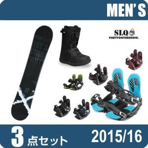 スノーボード 3点セット メンズ エスエルキュー SLQ  RESPECT ROCKER+AXEL 2+SUPERB ボード+ビンディング+ブーツ|himaraya