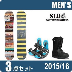 スノーボード 3点セットメンズ エスエルキュー SLQ  B...