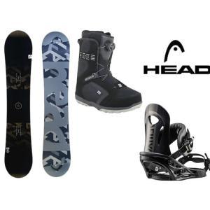 ヘッド HEAD スノーボード 3点セット メンズ FUSI...