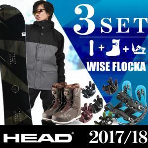 ヘッド HEAD スノーボード 3点セット メンズ WISE...