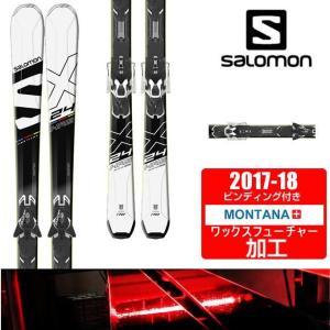 サロモン salomon スキー板 セット金具付 メンズ 24 HOURS MAX + XT10【WAX】|himaraya