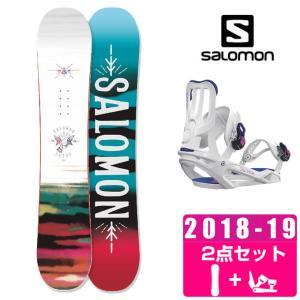 サロモン スノーボード 2点セット レディース LOTUS + SPELL ボード+ビンディング salomon