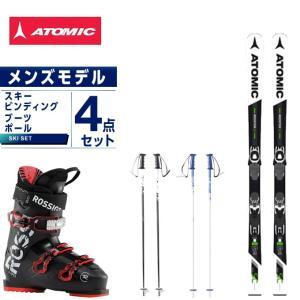アトミック ATOMIC スキー板 4点セット メンズ スキー板+ビンディング+ブーツ+ストック REDSTER SC +LITHIUM10-1+EVO 70 +SLALOM