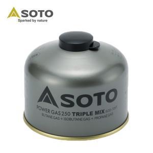 ソト SOTO ガスカートリッジ パワーガス 250 トリプルミックス SOD-725T od|himarayaod