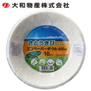 大和物産 Daiwabussan 使い捨て食器 皿 エコペーパーボウル400ml 10枚入 od|himarayaod