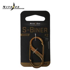 ナイトアイズ NITE IZE S型カラビナ#2ブラス S-BINER-BRASS#2 アウトドア アクセサリー od|himarayaod