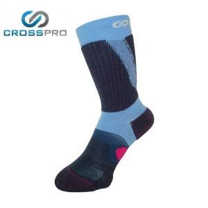 クロスプロ CROSS PRO トレッキングソックス レディース 3DFアーチPダブルテーピングクルーCW Z178-100-22-74 od|himarayaod